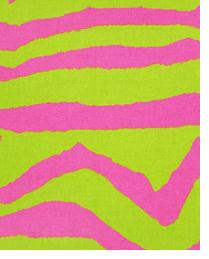 Zebra Chartreuse - Candy Pink by  Premier Prints