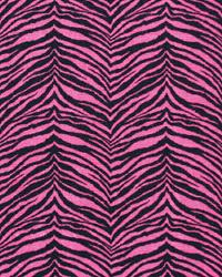 Pink Animal Print Fabric Little Tiger Candy Black