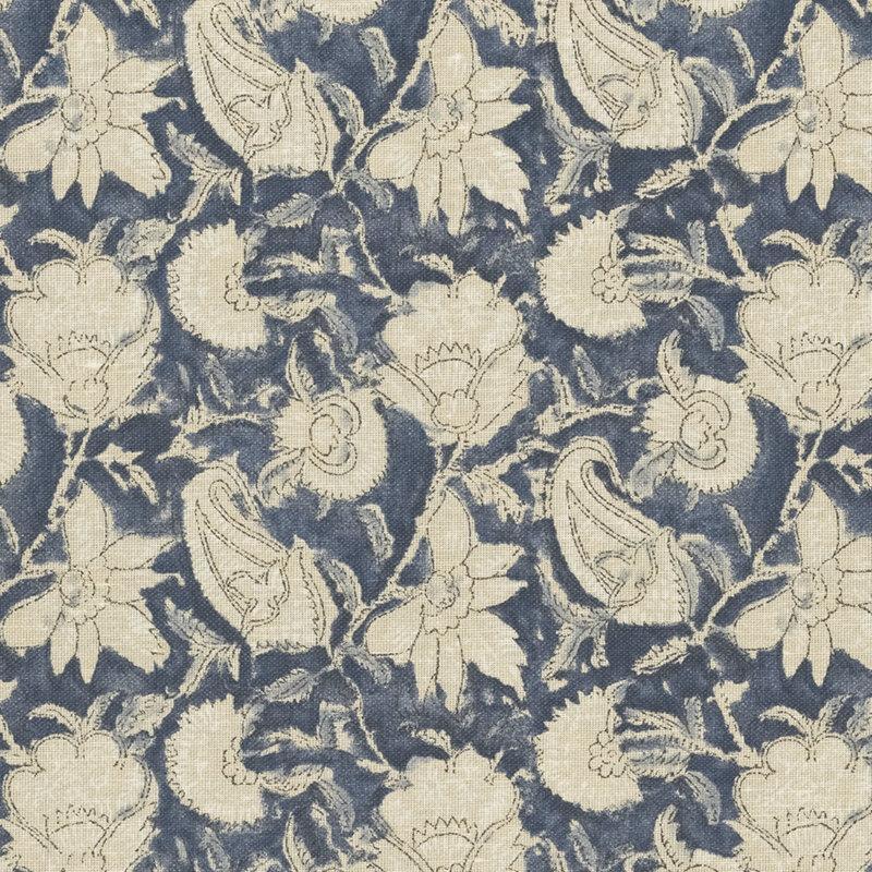 ralph lauren fabrics belgrade batik floral indigo search results - Ralph Lauren Indigo