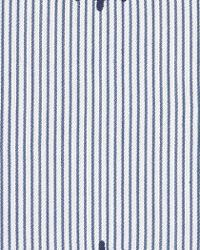 Captains Wheel Ticking Stripe Deck Blue by