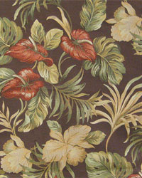Large Print Floral Fabric  Naples Persimmon