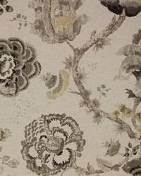Brown Jacobean Floral Fabric  Winslow Desert