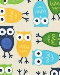 Urban Zoologie Owls Blue by