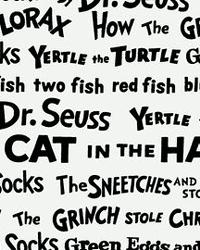 Celebrate Seuss Words Black by