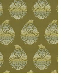 Green Small Print Floral Fabric  Amazing Grace Avocado