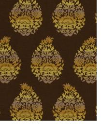 Brown Small Print Floral Fabric  Amazing Grace Paprika