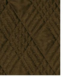 Brown Quilted Matelasse Fabric  Diamond Quilt Portobello