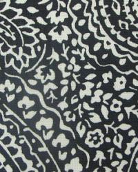 Black Classic Paisley Fabric  Evening Sky Wicker