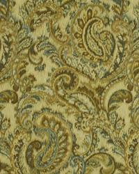 Green Classic Paisley Fabric  Faded Swirls Jade
