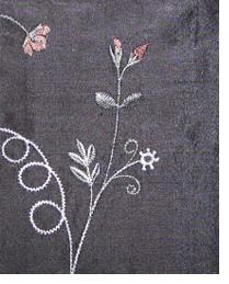 Black Small Print Floral Fabric  Liquid Gold Shadow