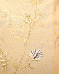 Small Print Floral Fabric  Liquid Gold Wheat