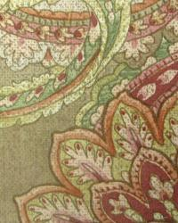 Red Classic Paisley Fabric  Merel Leaf