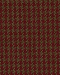 Houndstooth Burgandy by
