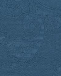 Blue Classic Paisley Fabric  Serafina Wh0334 Indigo