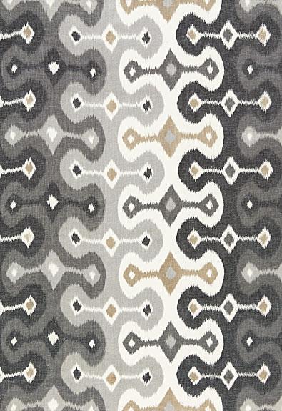 Schumacher Fabric Darya Ikat 174833 Stone