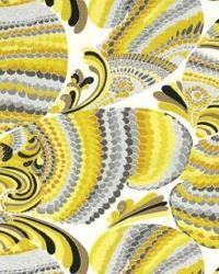 Yellow Trina Turk IndoorOutdoor 2 Fabric  Pisces Print Driftwood