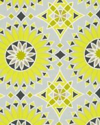 Yellow Trina Turk IndoorOutdoor 2 Fabric  Soleil LA Print Driftwood