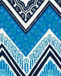 Blue Trina Turk IndoorOutdoor 2 Fabric  Tangier Frame Print Ocean