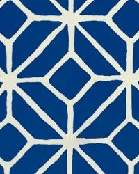 Blue Trina Turk IndoorOutdoor 2 Fabric  Trellis Print Marine