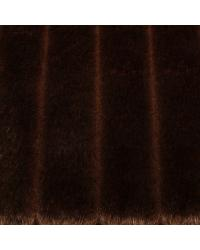 Brown Animal Print Faux Fur Fabric  Grooved Mink Tobacco