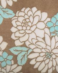 Blue Medium Print Floral Fabric  Ibiza Cuddle Marina