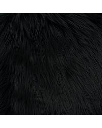 Black Fun Fur Colors Fabric  Mongolian Fur Black