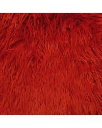 Red Fun Fur Colors Fabric  Mongolian Fur Rust