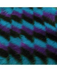 Multi Argyle Fur Turquoise Purple Black by