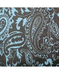 Paisley Cuddle Print Brown Blue by