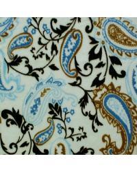 Paisley Cuddle Print Mocha Blue by