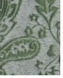 Green Classic Paisley Fabric  Posh Cuddle Olive