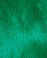 Green Fun Fur Colors Fabric  Promo Shag Emerald