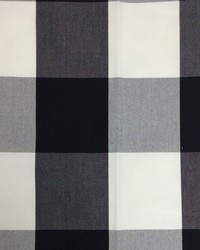 Sheldon and Barnett Checkmate Black Cream Fabric