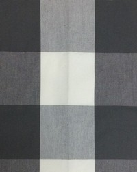 Sheldon and Barnett Checkmate Charcoal Cream Fabric