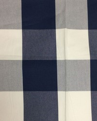 Sheldon and Barnett Checkmate Navy Cream Fabric
