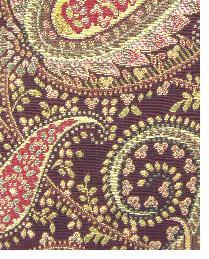 Red Classic Paisley Fabric  Brett Cherry