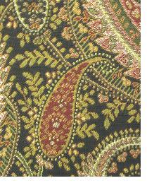 Brown Classic Paisley Fabric  Brett Chocolate