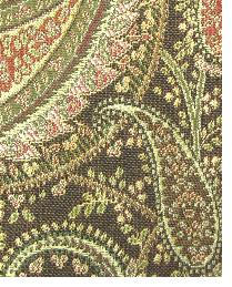 Brown Classic Paisley Fabric  Brett Cocoa