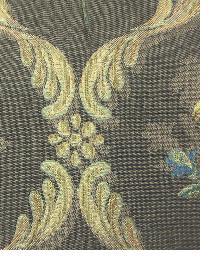 Brown Medium Print Floral Fabric  Gilbert Cocoa