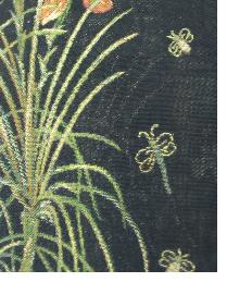 Black Small Print Floral Fabric  Kathi Black