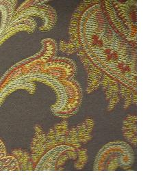 Brown Classic Paisley Fabric  Skyler Mocha