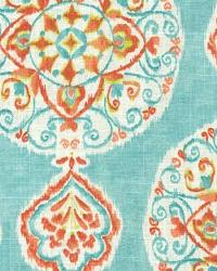 Suzani Fabric  Collage 1 Turquoise