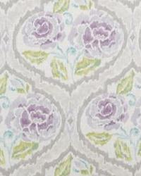 Purple Floral Diamond Fabric  Scurry 1 Violet