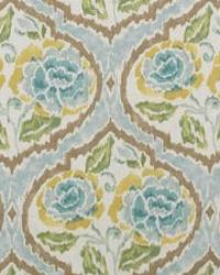 Blue Floral Diamond Fabric  Scurry 2 Turquoise