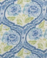 Blue Floral Diamond Fabric  Scurry 3 Blue