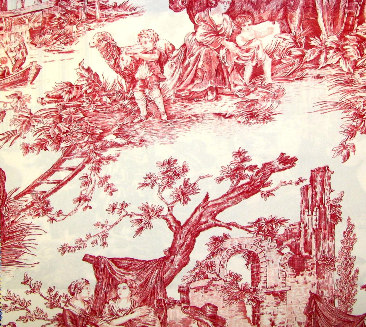French Country Fabrics Part - 29: Stroheim Fabrics Country Fable II Screen Print Cherry Search Results