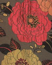 Red Modern Floral Designs Fabric  Full Bloom Spice