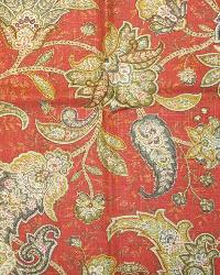 Orange Jacobean Fabrics  Gypsy Dance Cliffside Tuscan Red
