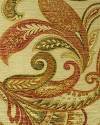 Beige Large Print Floral Fabric  Parizo Spice