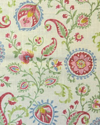 Green Jacobean Fabrics  Samanu Cliffside Canvas
